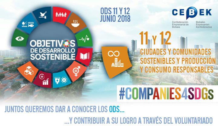 Companies4sdgs - Objetivos de desarrollo sostenible - Objetivos 11 y 12, Ciudades y comunidades sostenibles y Producción y consumo responsables