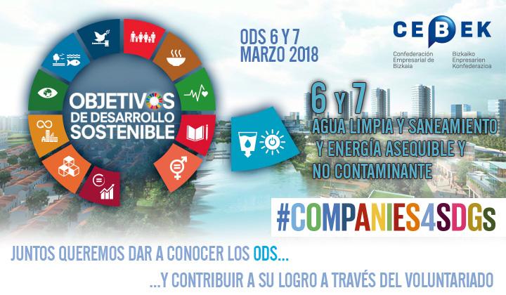 Companies4sdgs - Objetivos de desarrollo sostenible - Objetivos 6 y 7, Agua limpia y Saneamiento y Energía asequible y no contaminante.