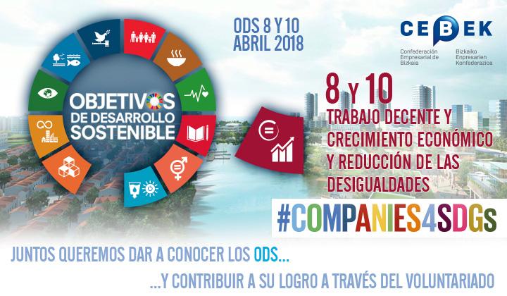 Companies4sdgs - Objetivos de desarrollo sostenible - Objetivos 8 y 10, Trabajo decente y crecimiento económico y Reducción de las desigualdades
